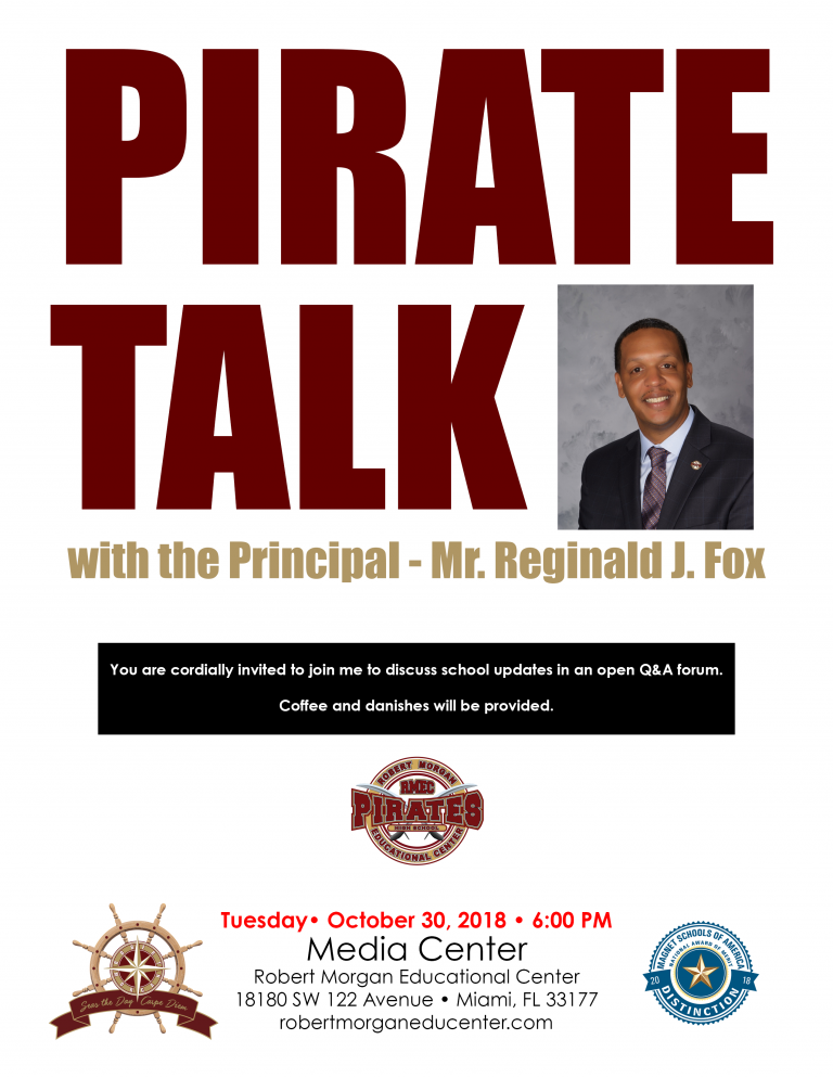 Pirate Talk 10.30.18 Flyer