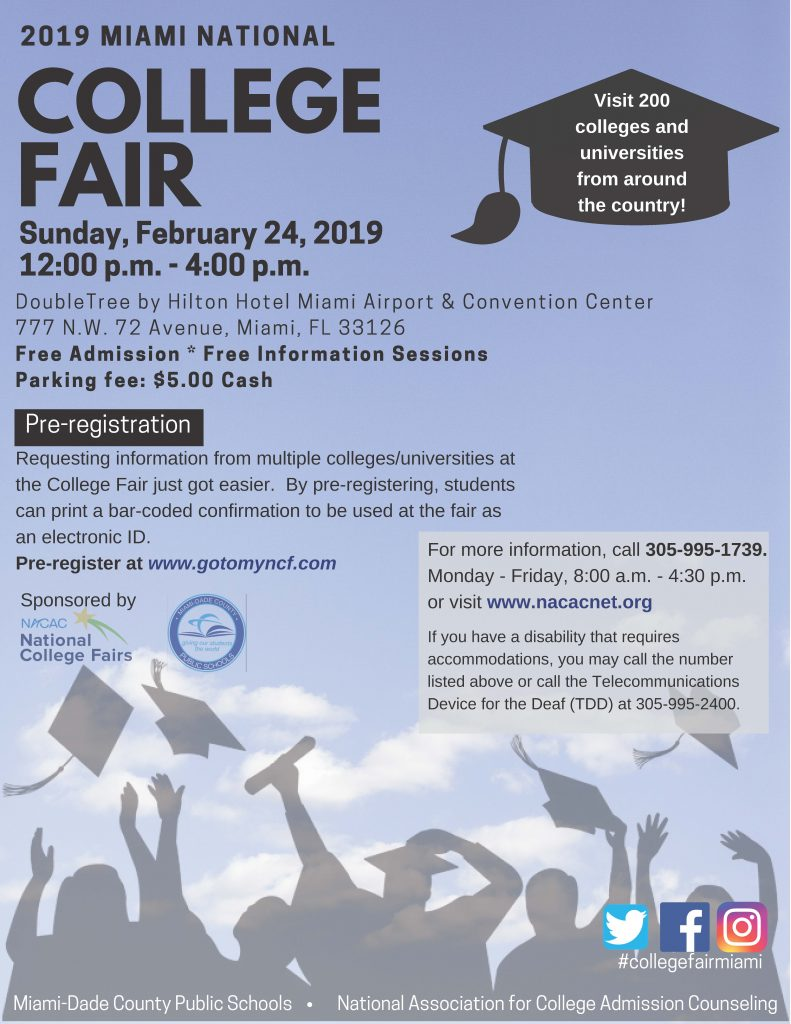 2019 Miami National College Fair @ Double Tree by Hilton Hotel Miami Airport & Convention Center | Miami | Florida | United States