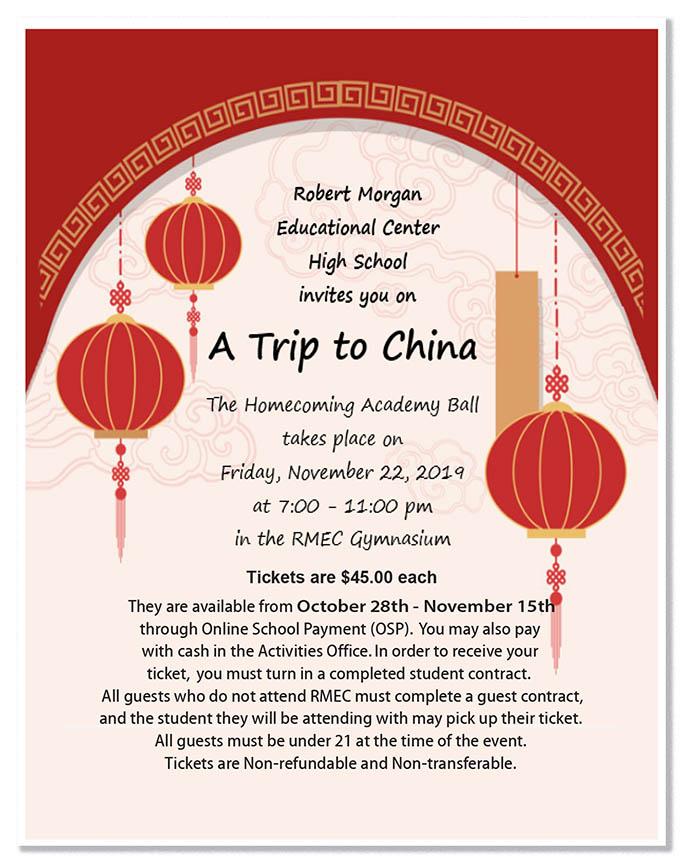 Homecoming Academy Ball - A Trip to China @ RMEC Gymnasium